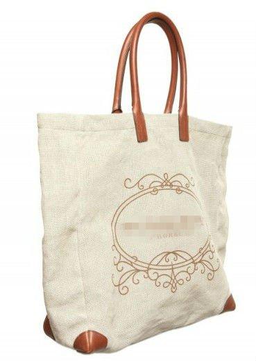 Льняная сумка с рисунком