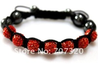 Браслет из бисера 50% discount Hot selling 10 bracelets 10 mm x 7 clay rhinestone beads shamballa beads bracelet