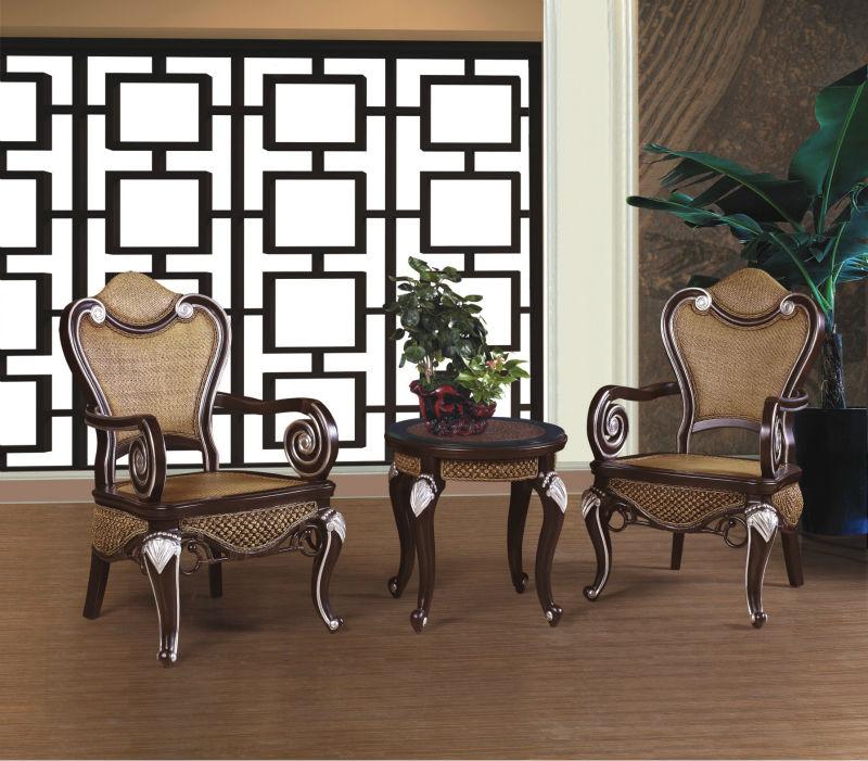 Muebles clásicos tallados francés rattan cama reproducciones de ...
