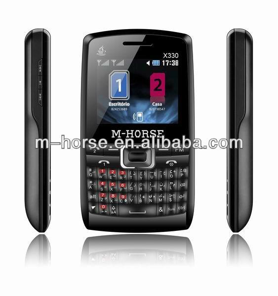 Dual Standby Ultra slim SMS/EMS qwerty keypad dual sim mobile phone