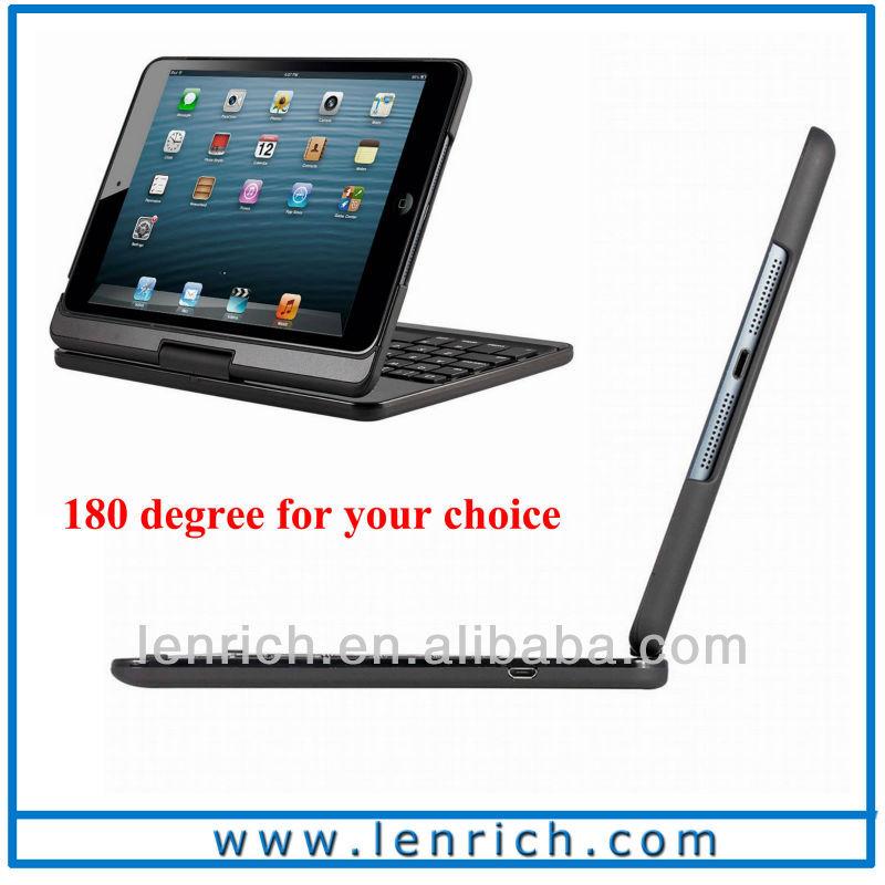 LBK156 360 degree rotation wireless ABS keyboard for ipad mini 2 bluetooth keyboard for the new ipad mini