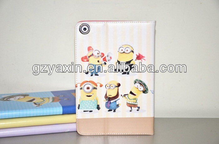 New Hot Products in Market for iPad Mini With Despicable Me Minion Leather Case,Minion Despicable Me 2 Case for Ipad Mini