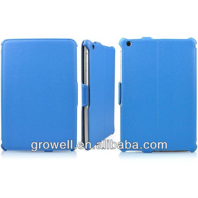 Heat setting leather hard case for ipad mini