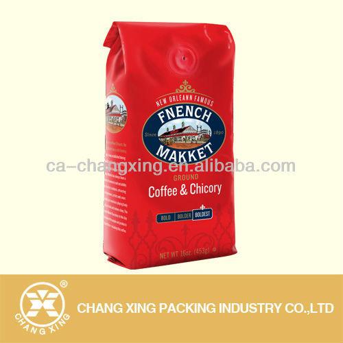 ที่ว่างเปล่ากาแฟถุงลามิเนตกับหนึ่งวาล์วdegassingวิธี, กาแฟถุงกระดาษที่ว่างเปล่า, ฟอยล์ถุงกาแฟ