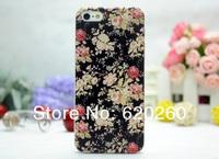 цветок мобильного телефона черный крышку случае для iphone5g для apple5