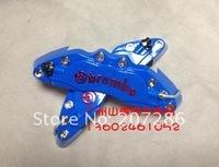 high quality free shipping Latest 3D ATV UTV ABS Brembo Look Brake Caliper Cover Kit Front Rear 4pcs blue
