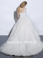 Свадебное платье 30% Discount! Hot-sale Classic Ball Gown Chapel Train Lace Wedding Dress/Brial Gown/Bridesmaid Gown
