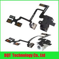 Гибкий кабель для мобильных телефонов For iphone 4 4G Audio Jack Earphone Flex Cable BLACK / White 100% Gurantee Just for VIP