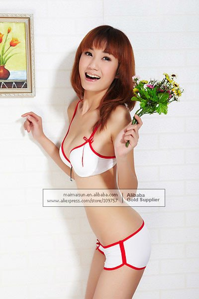 Wholesale lingerie seamless sexy hot sell bra set  New designer lovely girl's sexy push up underwear 017