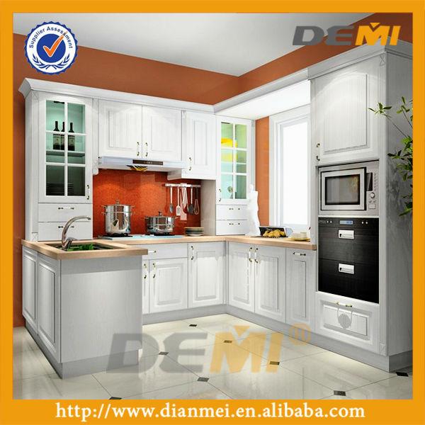 Gabinete de madera modelo de la cocina de diseño moderno con el ...