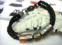 sl091h-1/кожаный браслет, высокое качество панк вязать веревку Кожевенный Браслет, ювелирные изделия, кожа, 100% ручной работы Ювелирные изделия