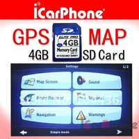 Car GPS maps with 4G SD memory card for car USA CANADA MEXCIO maps GPS maps North America GPS map