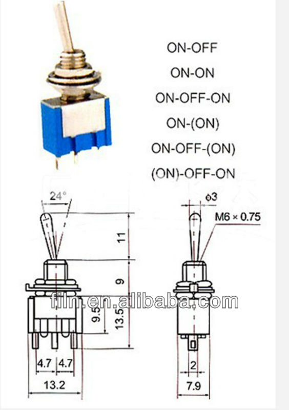 20a 2position On-off 3 Pin Toggle Switch Wiring - Buy Toggle Switch ...
