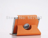 360 Degrees Rotating PU leather Stand Case Cover For new i pad mini Free Shipping