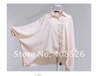 Женские блузки и Рубашки 2013 Europe Style/Sexy Women's Batwing Dolman Sleeve Chiffon Shirt Tops Blouses hot sell