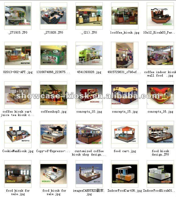 indoor food coffee booth kiosk bar design for sale from China