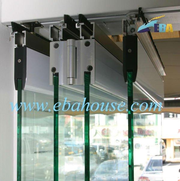 Main gate door designs frameless glass folding door for Main entrance sliding door design