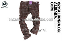 free shipping 1pcs Good price Corduroy material girls pants with Gird OS-326#
