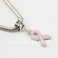 Free Shipping-Wholesale 2012 Hot Style Charms 50Mix Color/Lot Fashion Alloy Dangle Bead Fit Bracelet Enamel Ribbon Shaped MB22