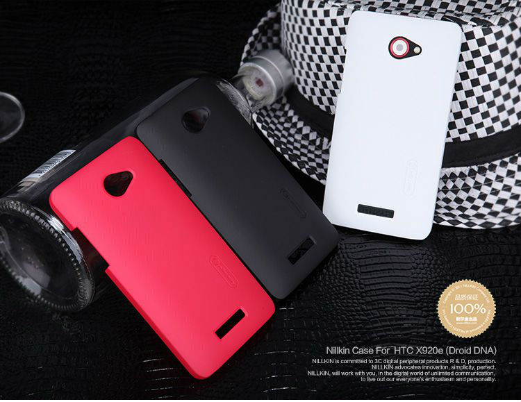 Orginal NILLKIN Super Shield Hard Matte Case Cover For HTC X920e Droid DNA + Screen Protector Retail Box Free Shipping