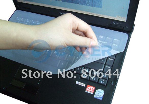 "Free shipping Universal laptop Keyboard Silicone skin cover protector fit 12""~15"" for Laptop"