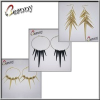 COUPON! B60038, 500pcs/lot, 55mm, Black, Spike beads for Basketball Wives Earring, EMS FREE