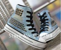Женские мокасины Popular high help liu nails large base shoe baba shoe canvas shoes joker leisure shoes#78