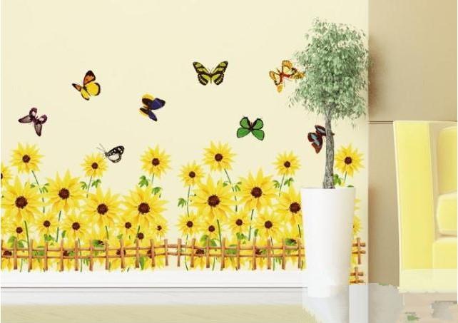 Vintage Sunflower Wall Decor : Aliexpress buy vintage sunflower painting wall art