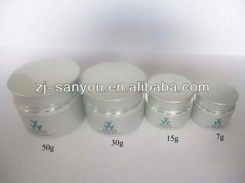 Aluminum/glass Cosmetic Jar