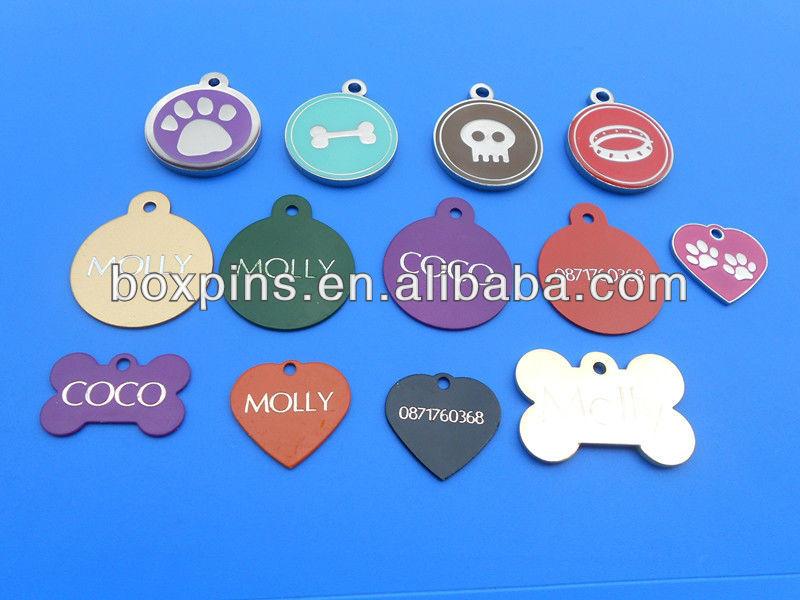 metal dog tag/pet tags wih laser logo