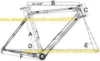 Рама для велосипеда Brand New Full Carbon 3K Road Bike Bicycle Frame 50cm with Fork headset