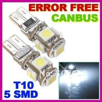 Источник света для авто 10pcs/lot Canbus T10 W5W 194 5050 SMD 5/led