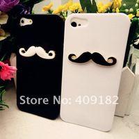 Чехол для для мобильных телефонов 2pcs/lot New Hot LEON Chaplin Sexy 3D Beard Mustache Hard Back Case Cover For Apple iPhone 5 Couple & Lovers