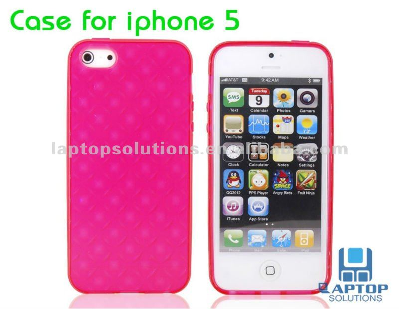 Newest Mobile Phone Diamond Glossy TPU Case for iPhone 5