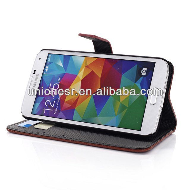 2014 lichee pattern leather wallet cases for samsung galaxy s5,for samsung galaxy s5 leather case,for samsung case