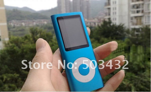 Wholesale the 4th Generation gen MP3 MP4 Digital Player Real Memory 4GB 1.8'' screen FM Game Best Price Free EMS, 100pcs/lot