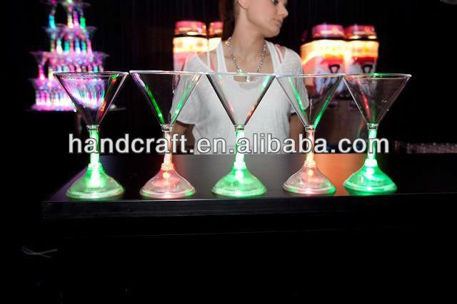 Flashing LED Glass