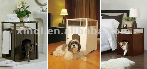 Dog Foot Print New Style Top Quality Wood Made Dog House Indoor Pet Cages,Carriers & Houses