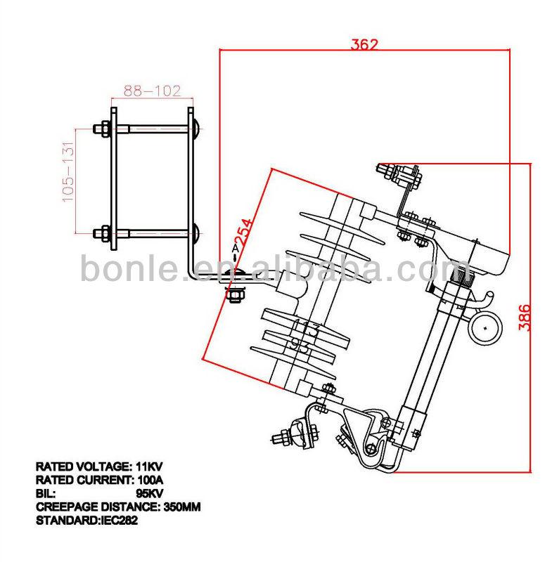 11KV 100A Polymer type cutout fuse.jpg