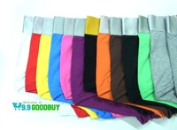 11 Colors Men's Cotton Sexy Underwear Boxer Shorts For Man,Free Shipping,M,L,XL,XXL,With Individual Bag Package,10pcs/Lot
