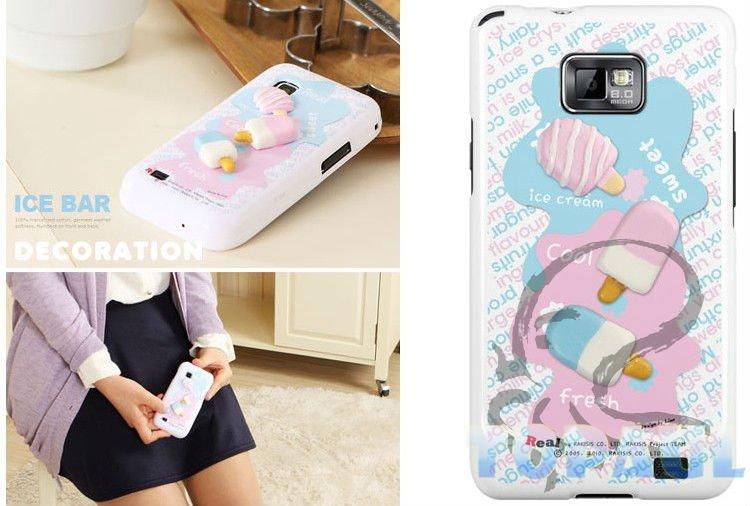 Lovely Fancy case for SamSung Galaxy S2 i9100 back skin,i91030