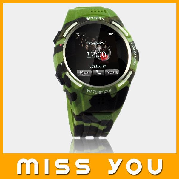 2014 new arrive waterproof wrist watch mobile phone
