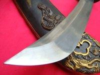 Оборудование для боевых искусств 198 HANDMADE JAPANESE BROADSWORD KATANA STEEL BELLE SHEATH