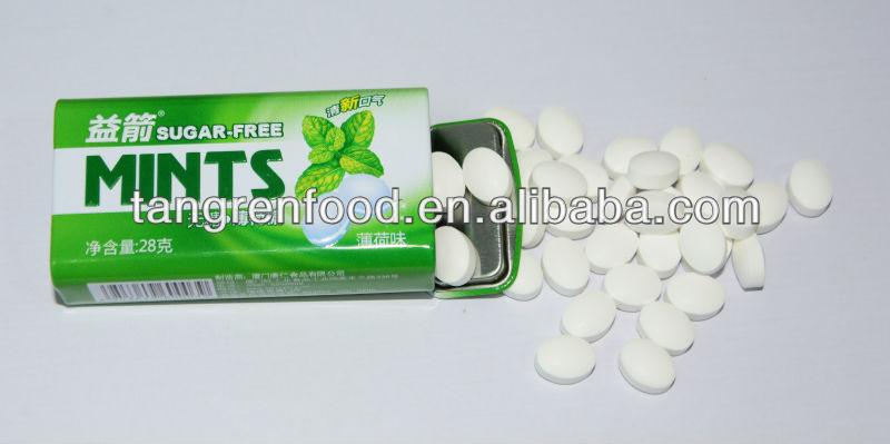 YIJIAN Sugar Free Press Mint Candy,mint tablet candy (28g)