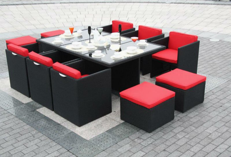 Gartenmobel Garnitur Rattan : Dining Set Borneo 8p Garden Furniture Set  Buy Garden Furniture Set