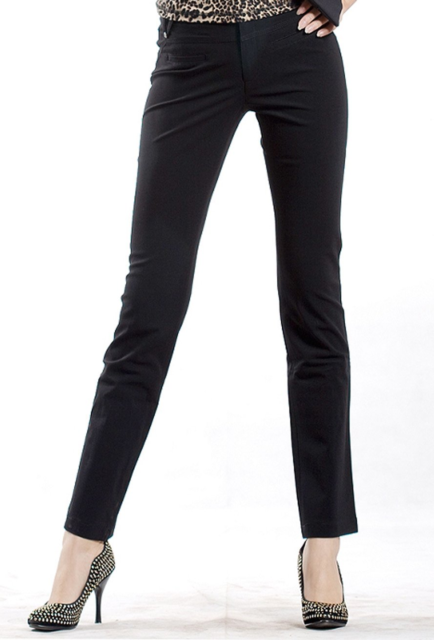 Brilliant New Ladies Womens Black Slim Fitted Stretch Combat Pants Skinny Cargo