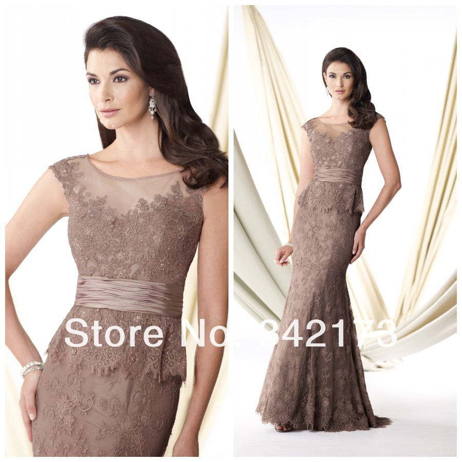 Best Mother Of The Bride Dresses Fall 2014 Vintage Illusion Neckline