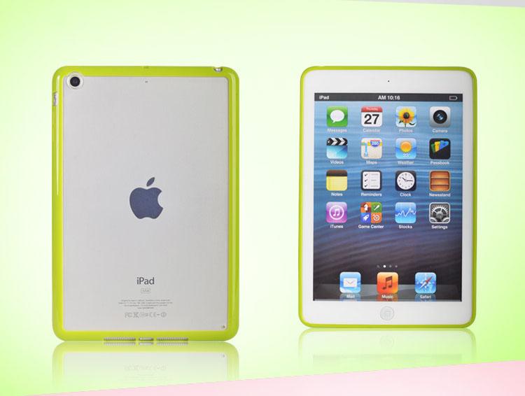 colored tpu side plastic cover case for ipad mini 2