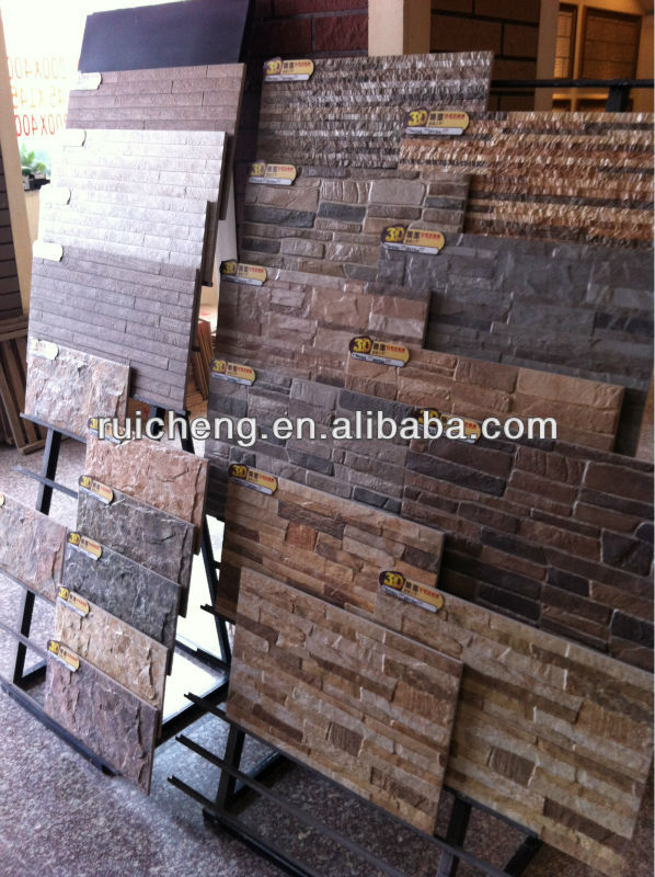 3d inkjet exterior fossil stone tile from ruicheng factory for Home outer wall design