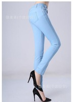 Женские брюки Retail 100% cotton women colored pencil pant trousers women pants 20colors 5 sizes 100 % high quality